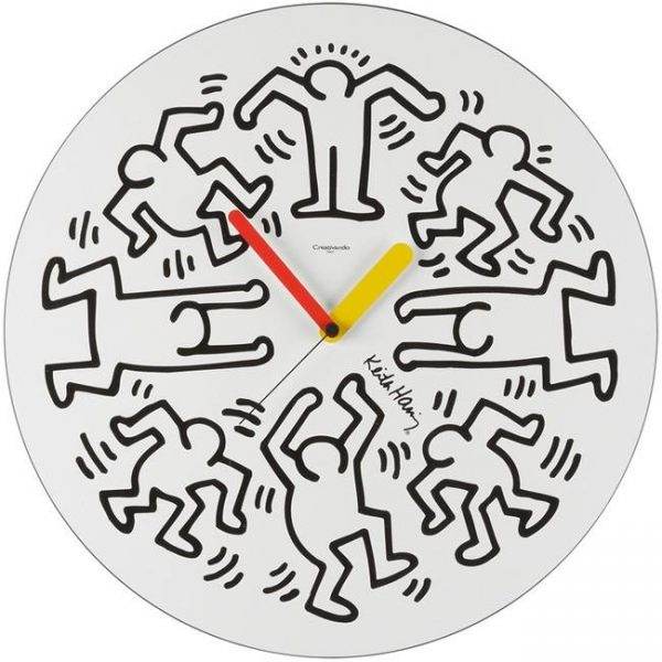 orologio-K.Haring-Bianco
