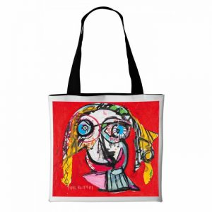 Borsa-Red-Face-Paul-Kostabi