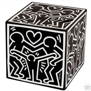 Pouf-Cubo Happy Family K.Haring