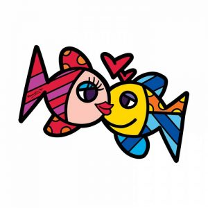 Art-Panel Fishes-Love Britto