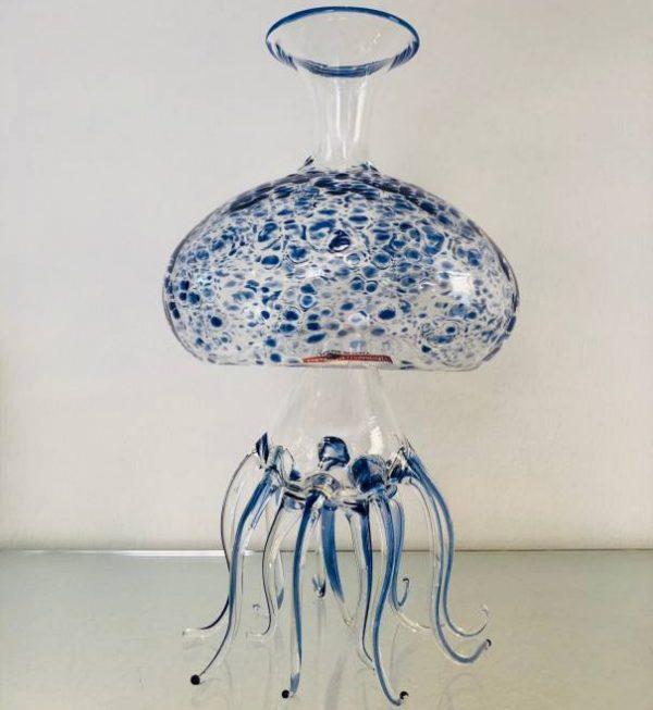 Decanter Medusa-blu Massimo Lunardon 1