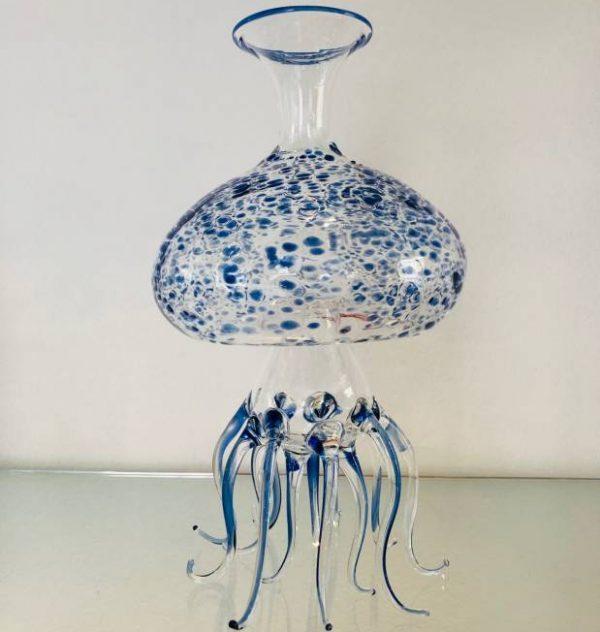 Decanter Medusa-blu Massimo Lunardon