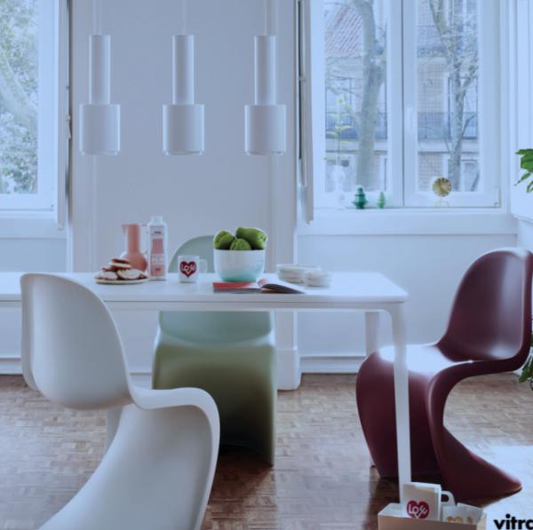 Panton Chair Vitra Soft-Mint-Ambientata